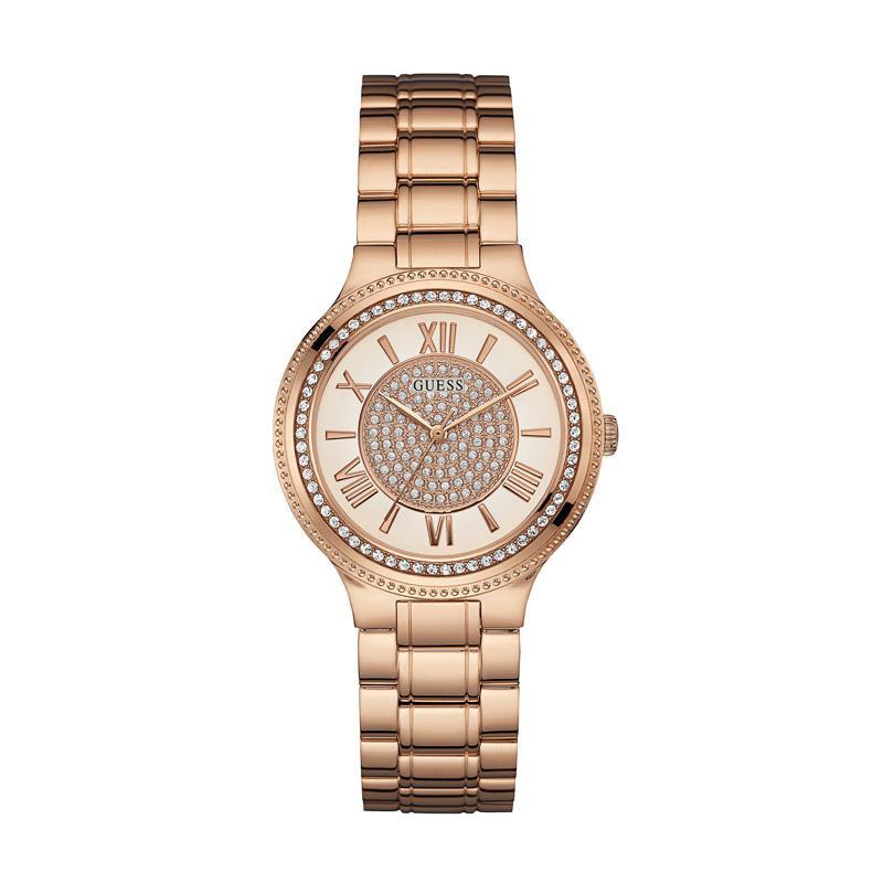 harga GUESS W0637L3 Madison Stainless Jam Tangan Wanita - Rose Gold Crystal Blibli.com
