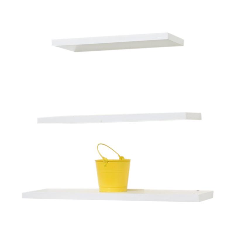 Woodiest Wlp Floating Shelves Minimalis Set Rak Dinding 40 50 60 Cm