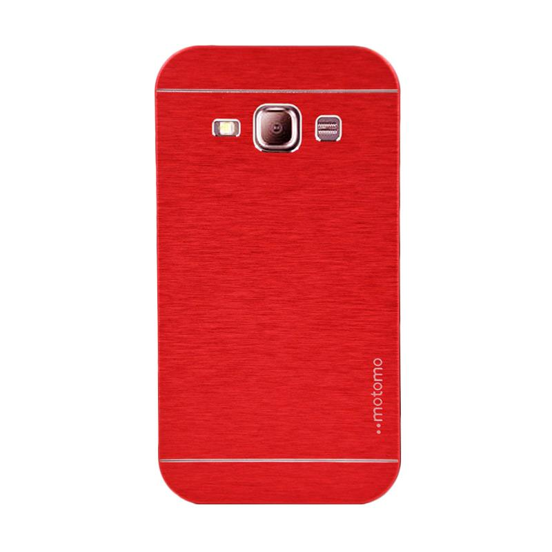 Motomo Metal Hardcase Backcase Casing for Samsung Galaxy J1 or J100F - Red
