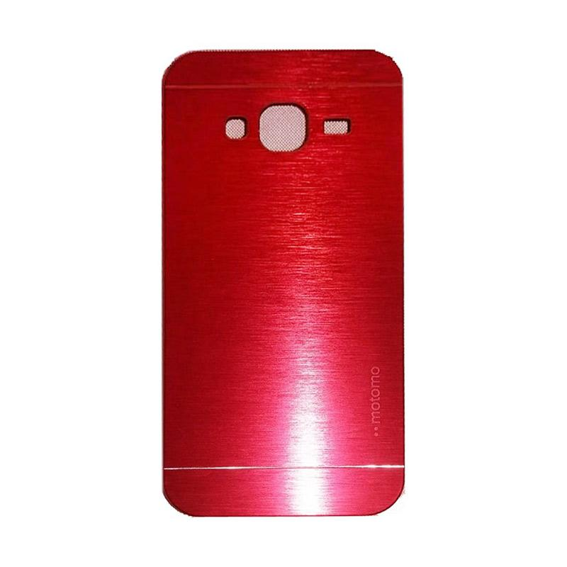 Motomo Metal Hardcase Backcase Casing for Samsung Galaxy J3 2016 or J320 - Red