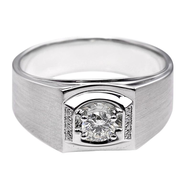 Tiaria DHTXHJZ016 Perhiasan Cincin Emas Putih dan Berlian White Gold [18K]