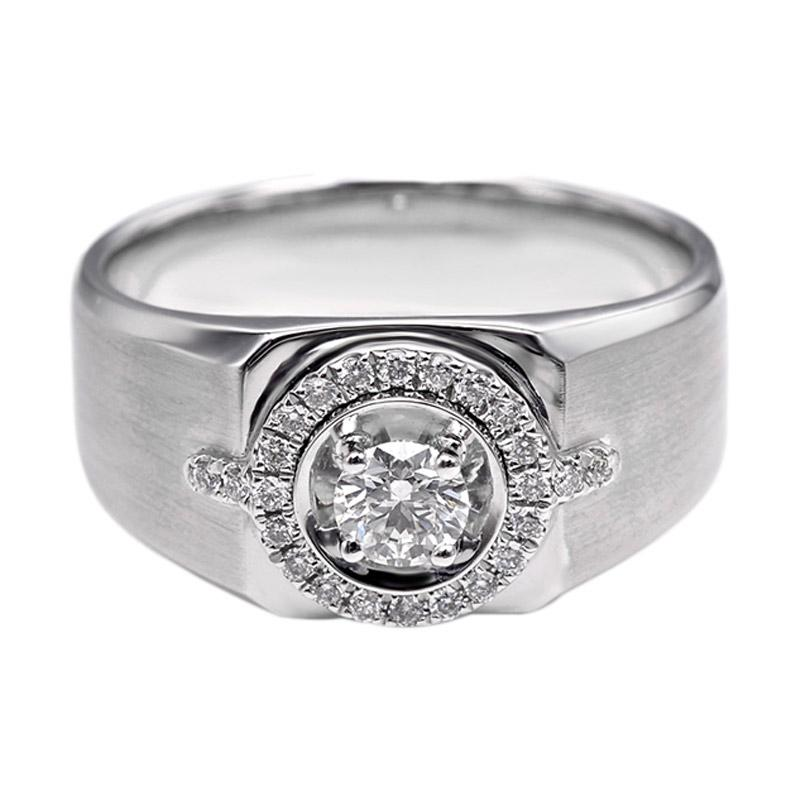Tiaria DHTXHJZ027 Perhiasan Cincin Emas Putih dan Berlian White Gold [18K]