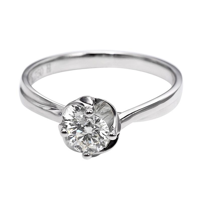 Tiaria DHTXHJZ056 Perhiasan Cincin Emas Putih dan Berlian White Gold [18K]