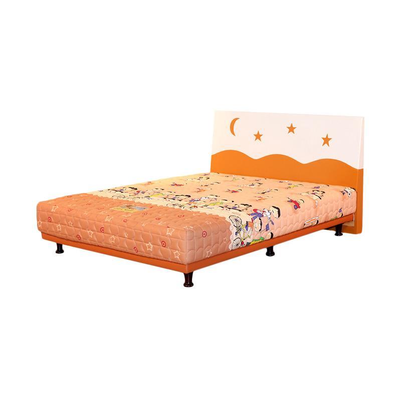 Guhdo Multibed Happy Kid HB Starmoon Set Springbed - Orange [Fullset]