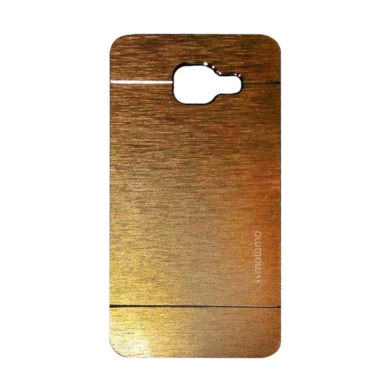 Motomo Metal Hardcase Backcase Casing for Samsung Galaxy A310 or A3 2016 - Gold