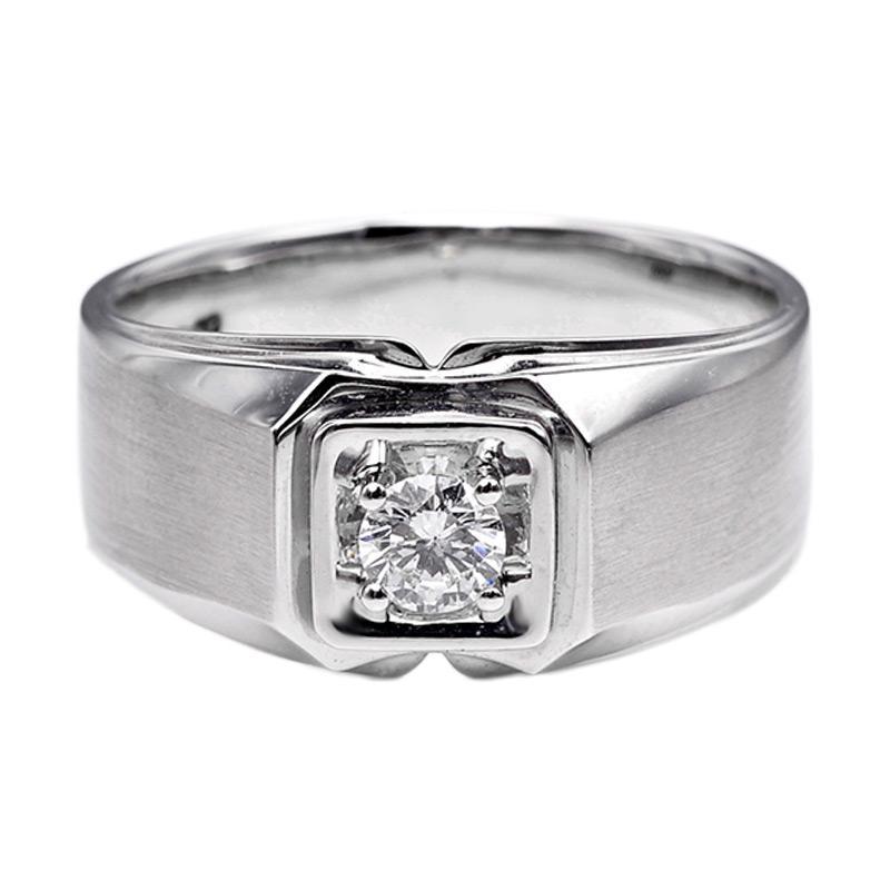 Tiaria DHTXHJZ066 Perhiasan Cincin Emas Putih dan Berlian White Gold [18K]