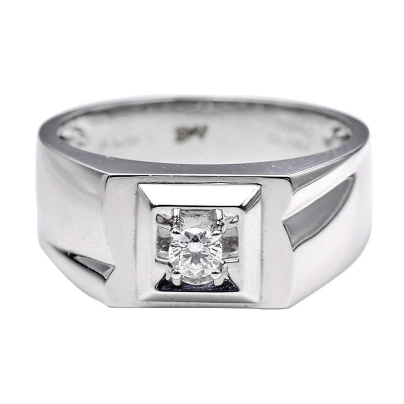 Tiaria DHTXHJZ073 Perhiasan Cincin Emas Putih dan Berlian White Gold [18K]