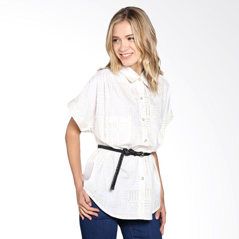 Batik Pria Tampan Wblpd-04081646c Women Checker Grid Shirt - White
