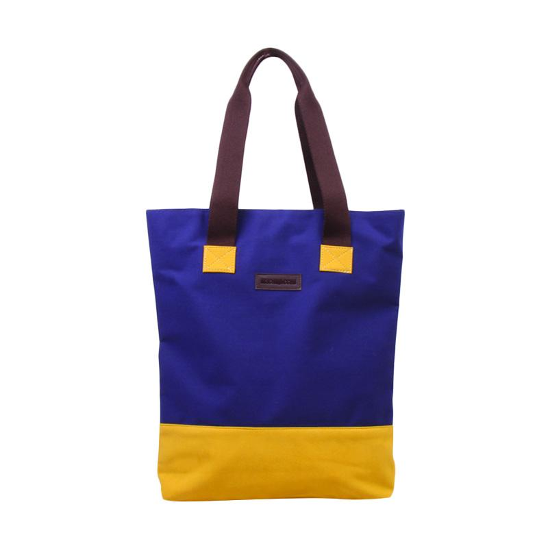 Machupicchu Tote Kana Bag CS BTO.17 Tas Wanita - Navy & Yellow Suede