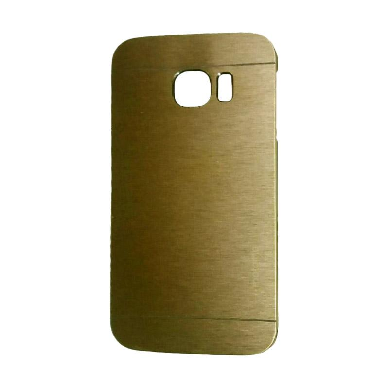 Motomo Metal Hardcase Backcase Casing for Samsung Galaxy S6 Edge  - Gold