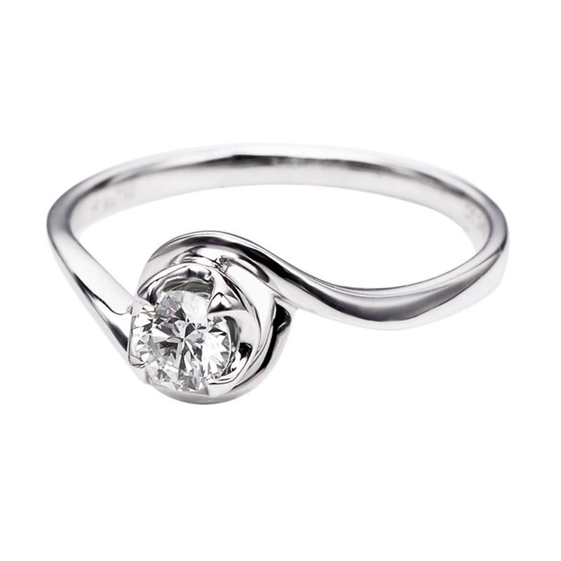 Tiaria DHTXHJZ008 Perhiasan Cincin Emas Putih dan Berlian White Gold [18K]