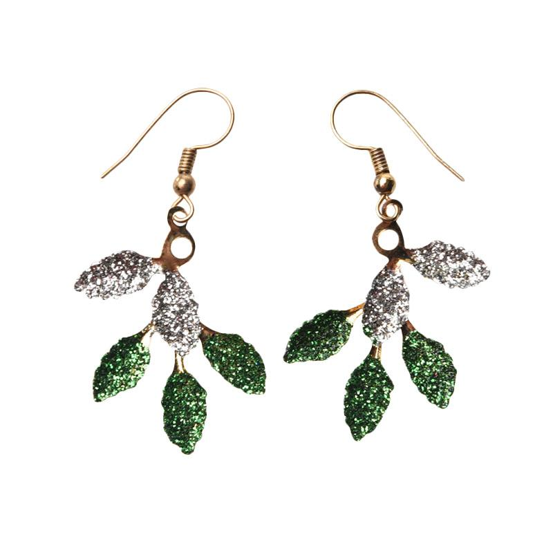 1901 Jewelry GW.5064.HR53GR Anting Colorful Leaf Anting - Gold [Lapis Emas 22K]