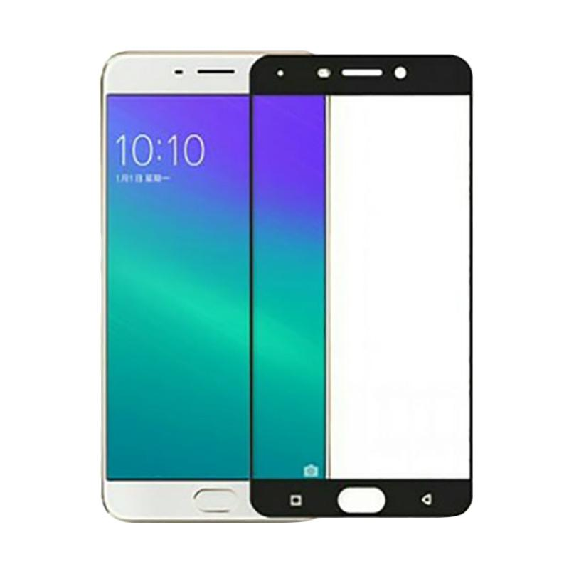 Tempered Glass Screen Protector for Oppo F3 Plus - Lis Hitam [2.5D Full]