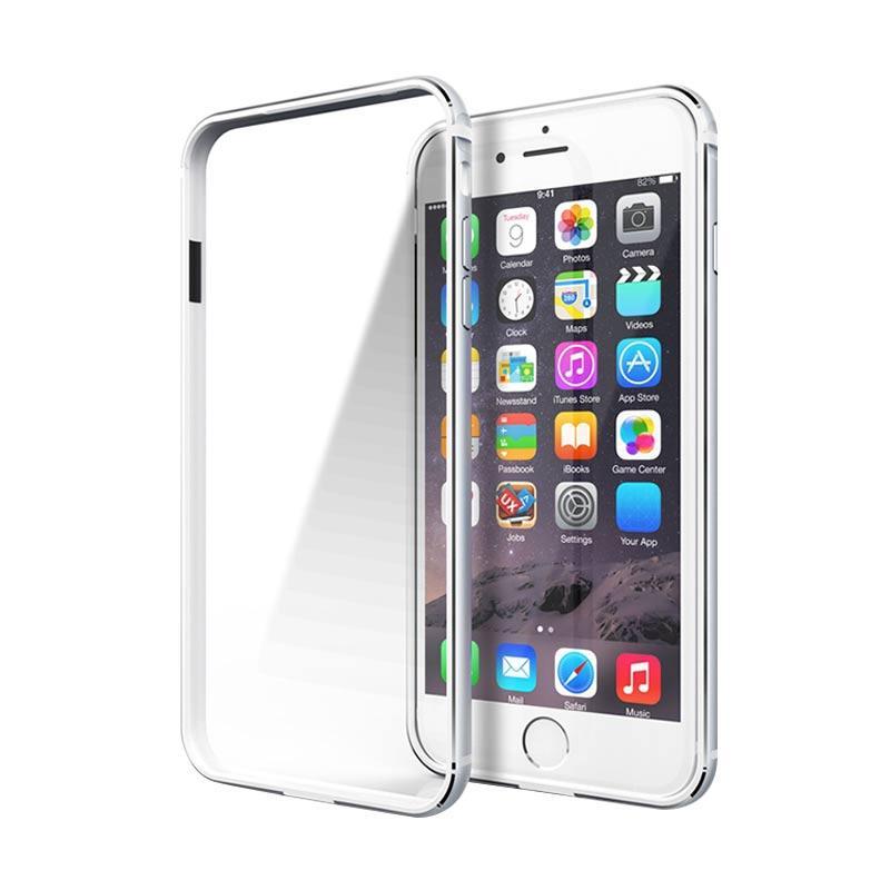 harga iBuy Bumper Stainless Flexible Casing for iPhone 6 or 6s - White List Blibli.com