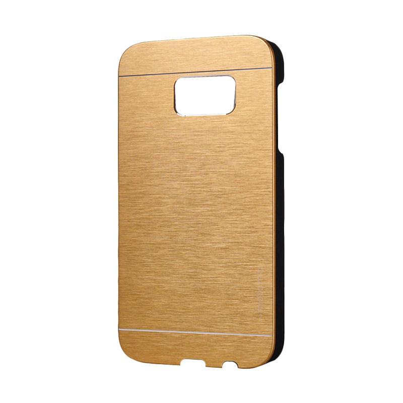 Motomo Metal Backcase Hardcase Casing for Samsung Galaxy S7 Edge - Gold