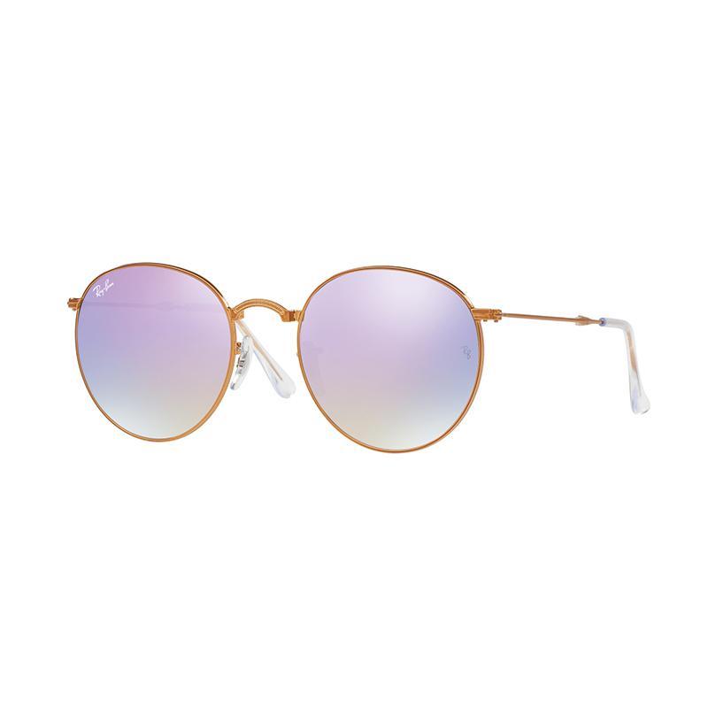 Ray-Ban Sunglasses RB3532 Lilac Flash Gradient Kacamata - Shiny Bronze [198/7X/Size 53]