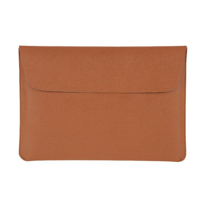 Cooltech Tas Laptop Ultra Slim Envelope PU Leather Softcase Sleeve Case for Macbook 13.3 Inch - Coklat