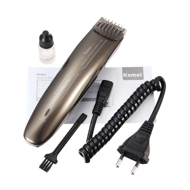 Kemei KM-2013 Rechargeable Beard and Moustache Hair Clipper Trimmer For Men - Brown