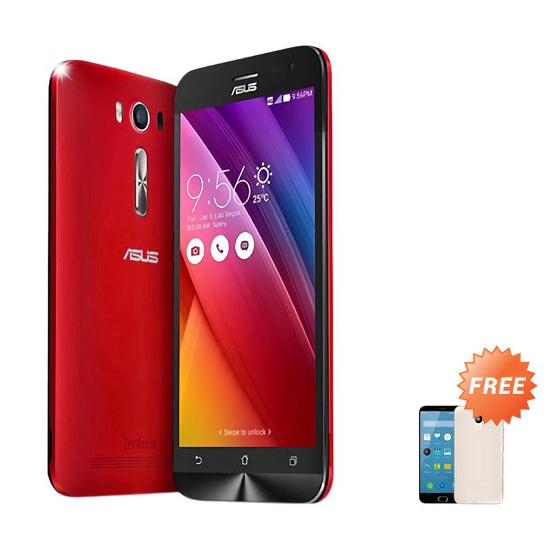 Ultrathin Aircase Casing for Zenfone 2 ZE500KL - Red Clear + Free Ultra Thin