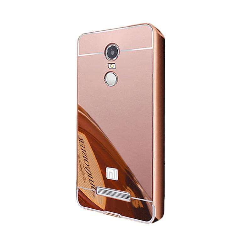 Bumper Mirror Sliding Casing for Xiaomi Redmi Note 4 - Rose Gold