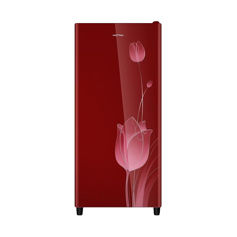 POLYTRON PRO16KTR One Door Refrigerator Kulkas - Maroon [160 L]