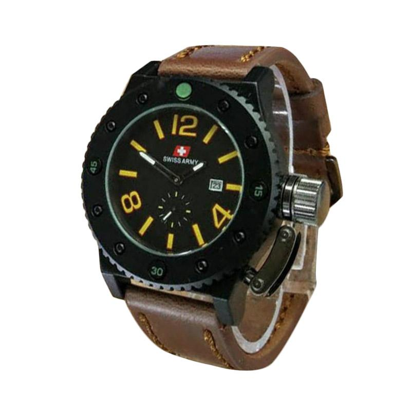 Swiss Army SA 9012 B Jam Tangan Pria - Coklat