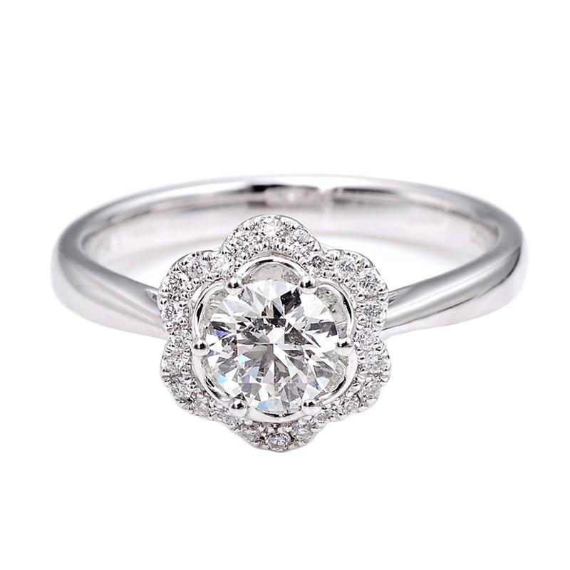 Tiaria DHTXHJZ067 Perhiasan Cincin Emas Putih dan Berlian White Gold [18K]