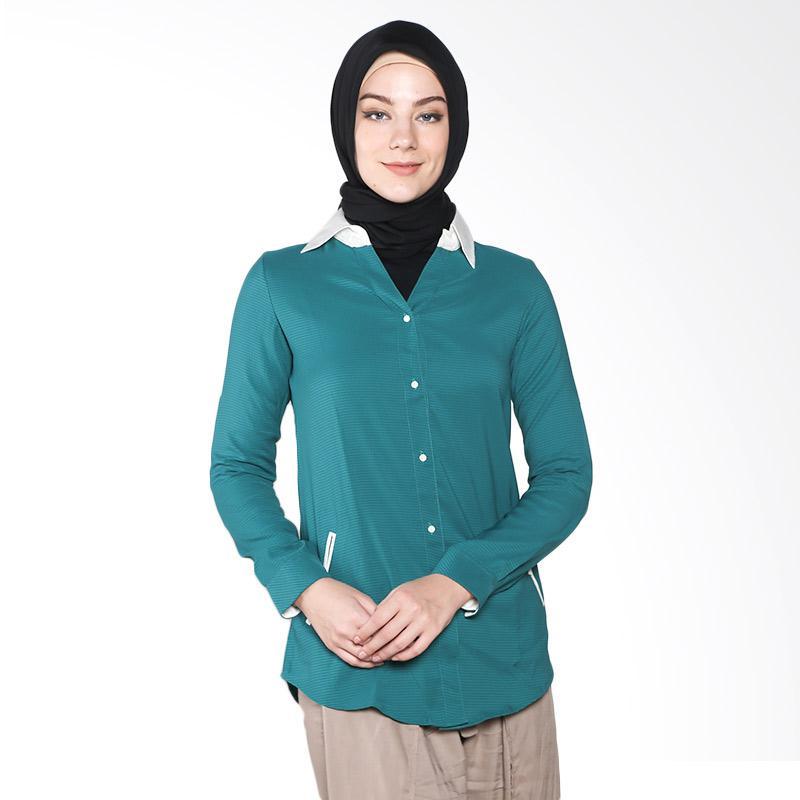 Aira Muslim Butik AB.T.009 Sheeren Top Atasan Muslim - Tosca