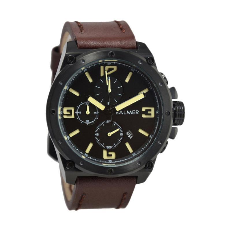 Balmer Casual D47H635BM7846MBCKTK Chronograph Leather Strap Jam Tangan Pria
