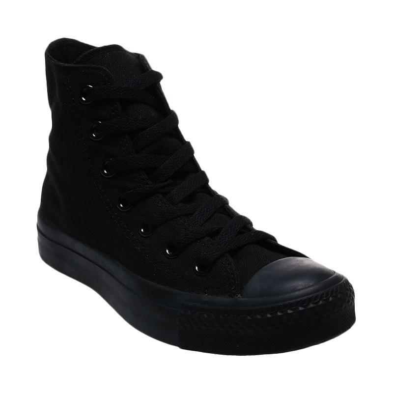 harga Converse CT As Canvas High Cut Sneakers - Full Black [Made in Vietnam] Blibli.com