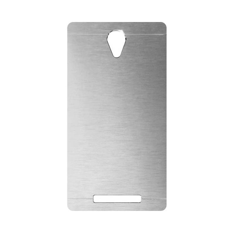 Motomo Metal Hardcase Backcase Casing for Xiaomi Redmi Note 2 - Silver