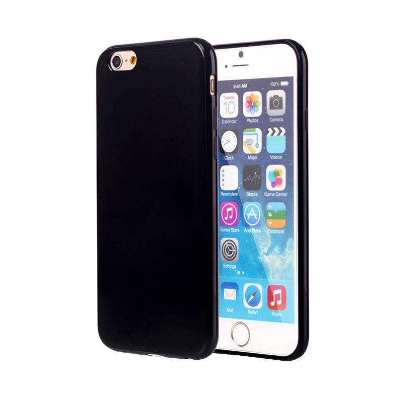 Royal Online Shop Ultra Thin Slim Hardback Casing for iPhone 6 or 6s - Glossy Jetblack