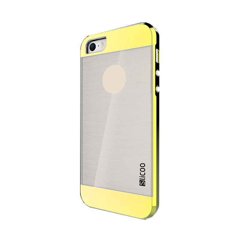 Slicoo Clear Back Side Cover Hardcase Casing for Apple Iphone 5 or 5S - Gold