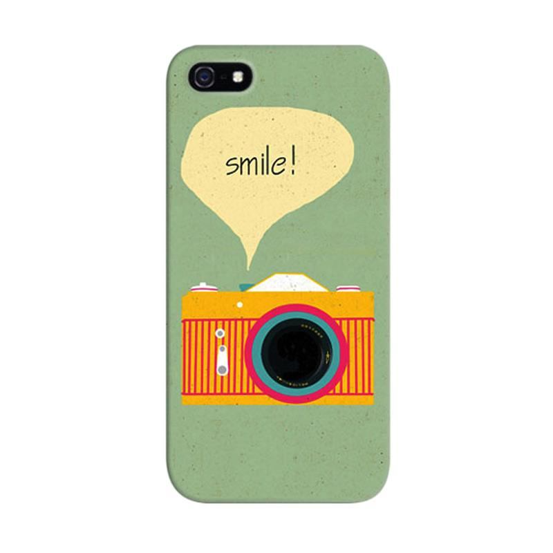 Indocustomcase Camera Smile Quote A Custom Hardcase Casing for Apple iPhone 5/5S/SE