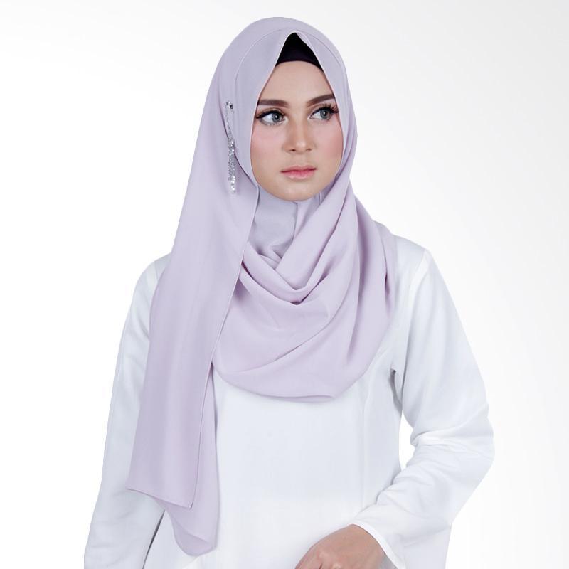Cantik Kerudung Sheefa Glamour Jilbab Instant ��� Light Grey