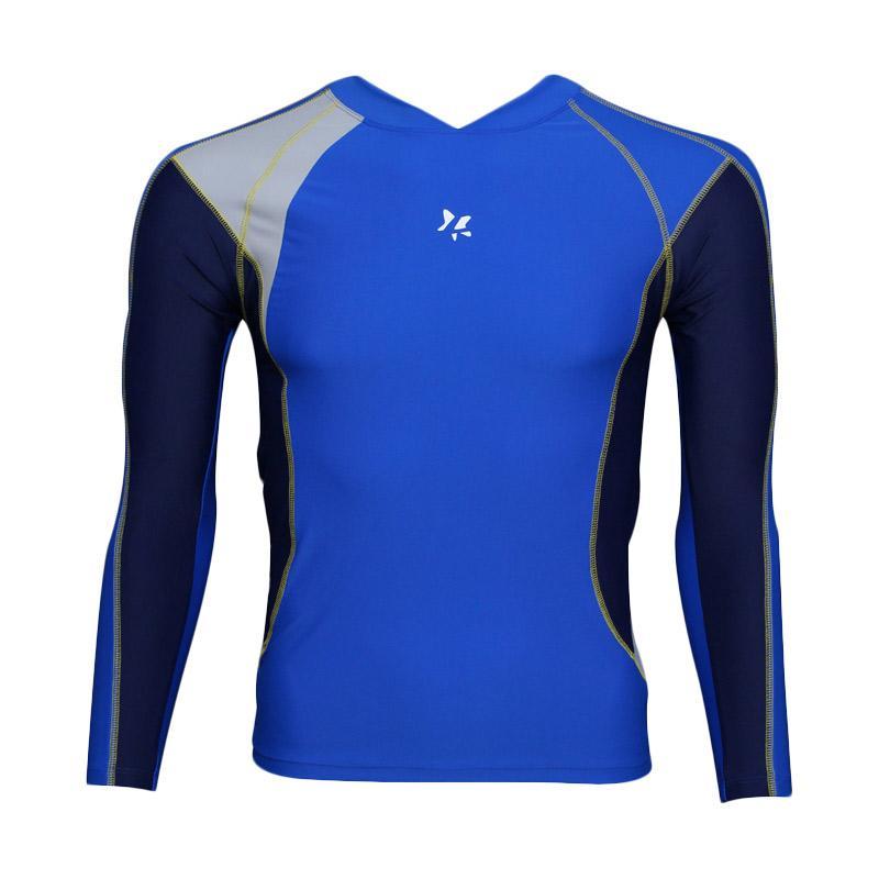 harga Lasona BM-S2877-L4 Baju Atasan Renang Pria Tangan Panjang - Biru Biru Dongker Blibli.com
