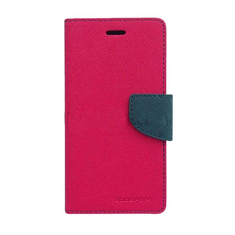 Mercury Fancy Diary Casing for Samsung Galaxy S4 Mini I9190 - Magenta Biru Laut