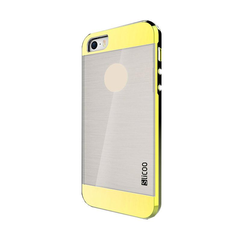 Slicoo Clear Back Side Cover Hardcase Casing for Apple Iphone 6 or 6S - Gold