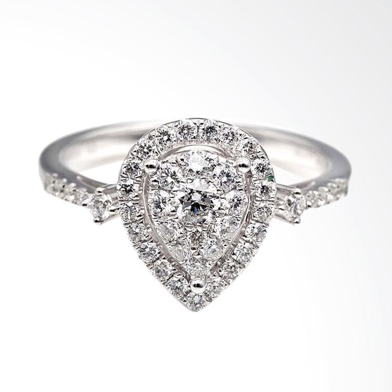 Tiaria Dhtxhjz031 Perhiasan Cincin Emas Putih Dan Zircon White Gold [9K]