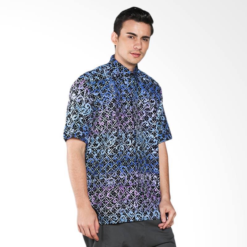 Batik Pria Tampan Fleur De Lis PKMPD-04081674K Men Shirt - Blue