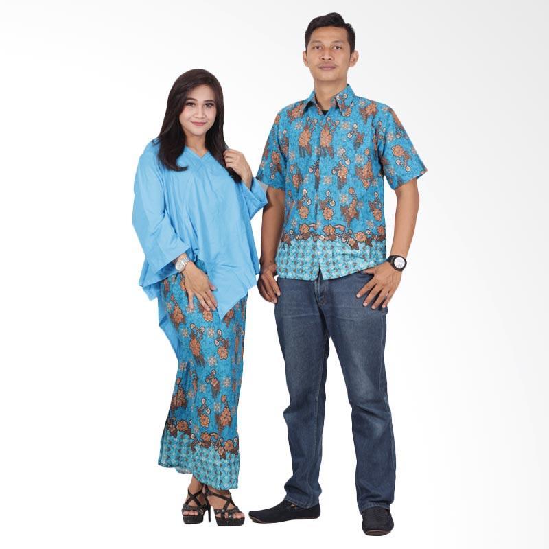 Batik Putri Ayu Solo Dress Srd202 Batik Couple - Biru