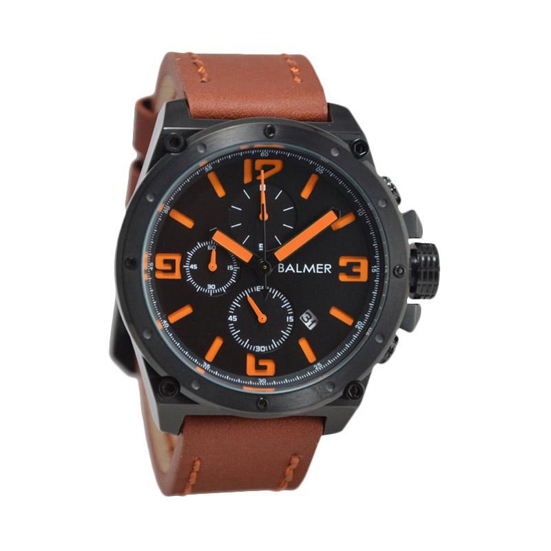 Balmer Casual D47H635BM7846MBCKTO Chronograph Leather Strap Jam Tangan Pria