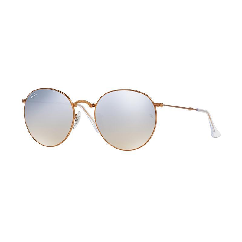 Ray-Ban RB3532 Grey Flash Gradient 198/9U Sunglasses - Shiny Bronze [Size 53]