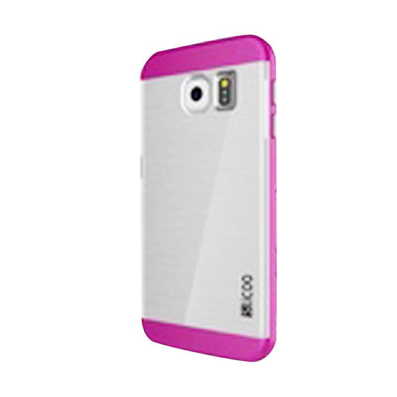 Slicoo Clear Back Cover Hardcase Casing for Samsung Galaxy S6 Edge - Pink