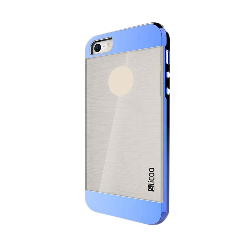 Slicoo Clear Back Side Cover Hardcase Casing for Apple Iphone 6 or 6S - Blue