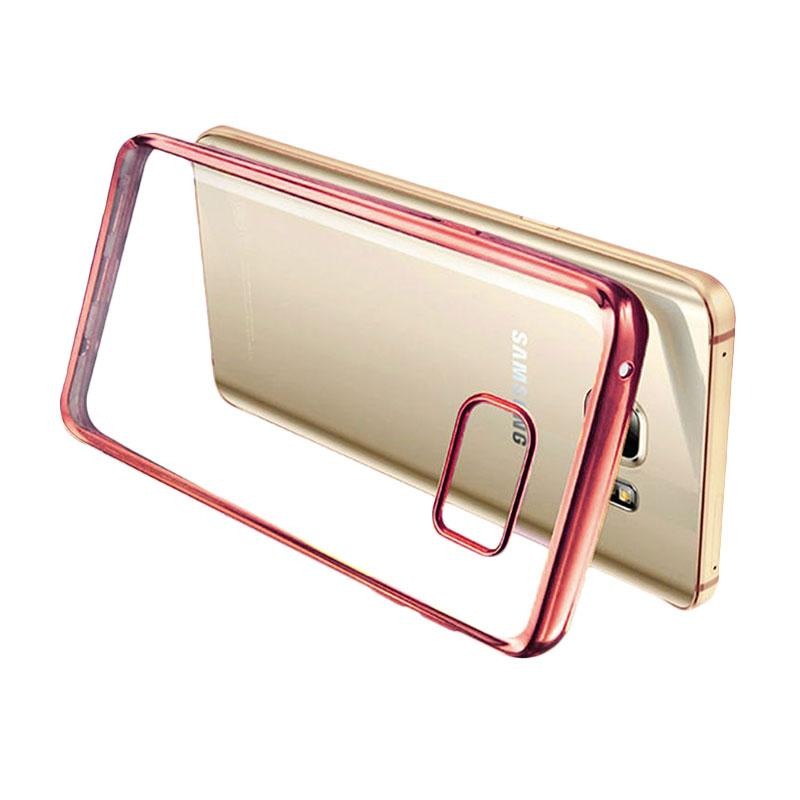 Ultrathin List Chrome Casing for Samsung Galaxy A3 2016 - Rose Gold