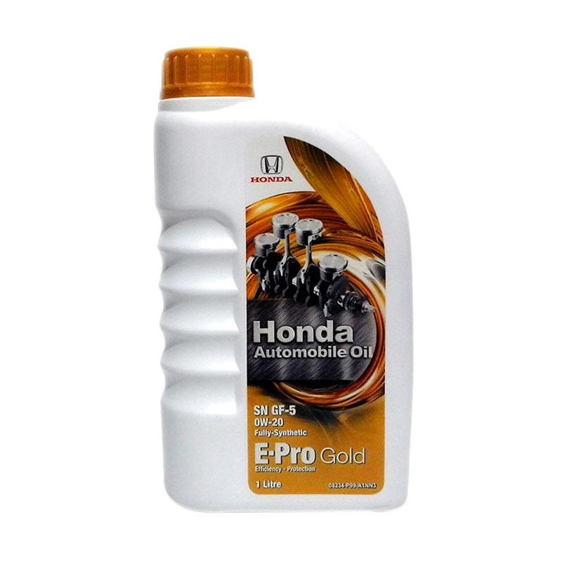 Honda Automobile Oil E-Pro Gold 0W-20 Full Synthetic Galon Oli Pelumas [1 L]
