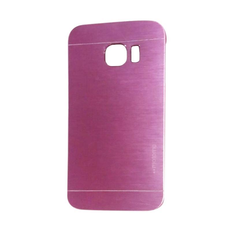 Motomo Metal Hardcase Backcase Casing for Samsung Galaxy S6 Edge - Pink