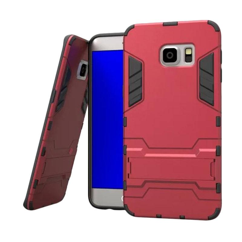 OEM Transformer Robot Iron Man Casing for Samsung Galaxy S6 Edge - Merah