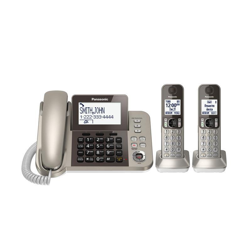 harga Panasonic Cordless Phone with Corded KX-TGF352 N Answering Machine Blibli.com